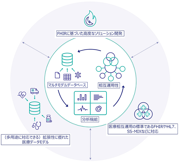 InterSystems IRIS for Health 概念図