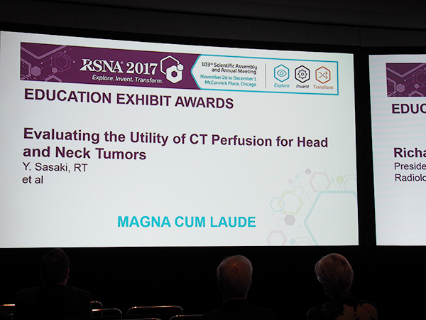 NR178-ED-X Evaluating the Utility of CT Perfusion for Head and Neck Tumors 佐々木 悠氏(埼玉医科大学国際医療センター)ほか