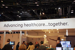 "RSNA 3013の展示テーマ""Advancing healthcare ... together."""